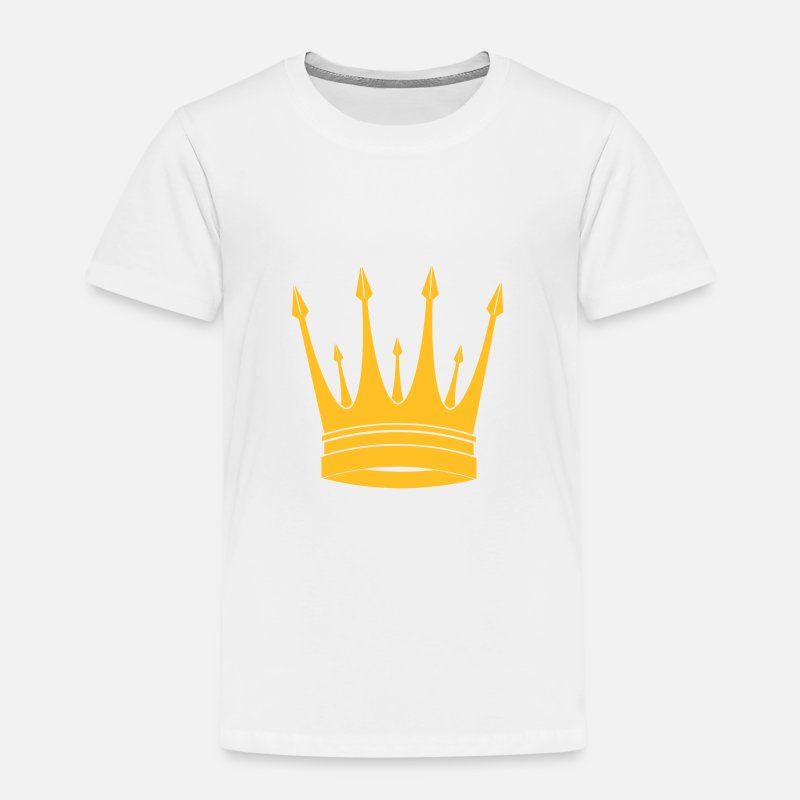 Couronne T-shirts - Couronne / Roi / Crown / King - T-shirt premium Enfant blanc