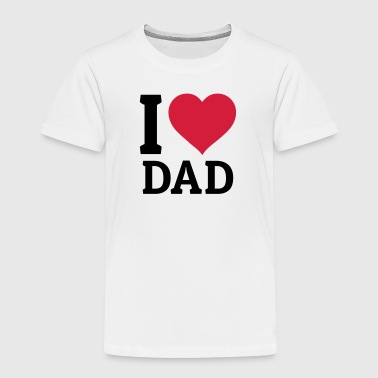 I Love Mom I love Dad jag älskar pappa - Premium-T-shirt barn