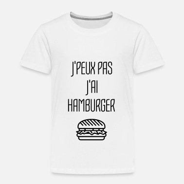 Hamburger Blagues Hamburger Fast Food Burger Pizza Frites Gras - T-shirt Premium Enfant