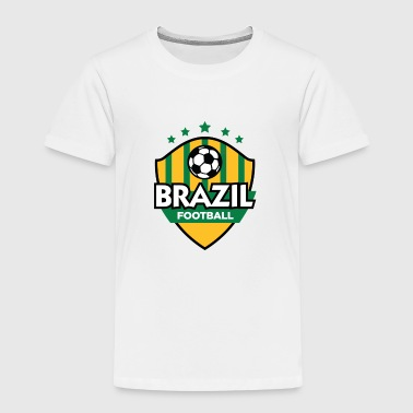 Football coat of arms of Brazil - Kids' Premium T-Shirt