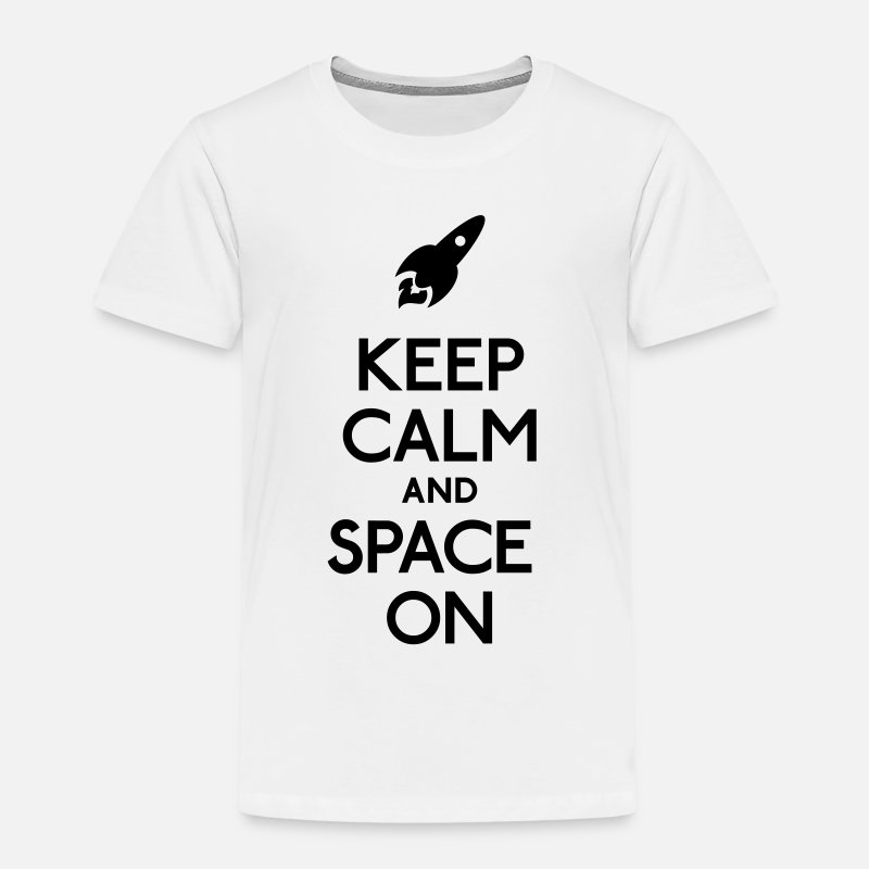 Astronaut T-Shirts - keep calm and space on - Kinderen premium T-shirt wit