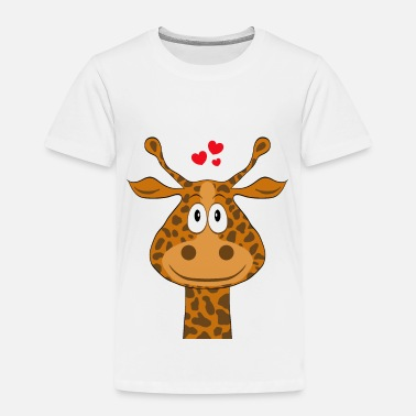 Cartoon Giraffes Funny cute cartoon cartoon giraffe - Kids' Premium T-Shirt