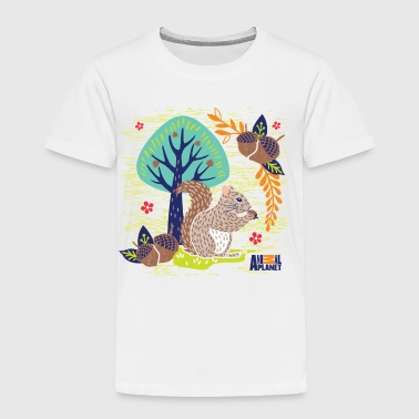 Animal Planet Too Cute Eichhörnchen Mit Nuss - Kinder Premium T-Shirt