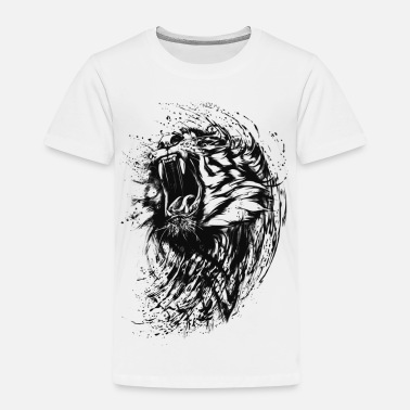 Collections Tiger - Paint - Premium-T-shirt barn