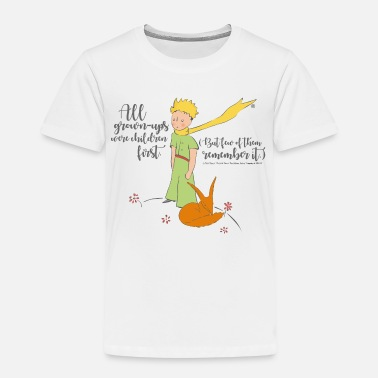The Little Prince With Fox Quote Grown-Ups - Kids' Premium T-Shirt