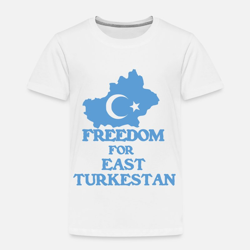 Turkestan T-Shirts - Freedom East Turkestan - Kids' Premium T-Shirt white