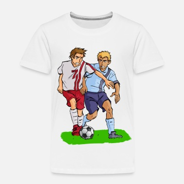 Comic Fußball Fussball Comic Kickers - Kinder Premium T-Shirt