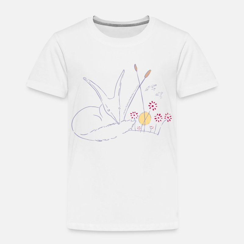 Le Petit Prince T-Shirts - The Little Prince Fox In The Rose Garden - Kids' Premium T-Shirt white