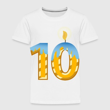 Birthday Candle 10 Today - Kids' Premium T-Shirt