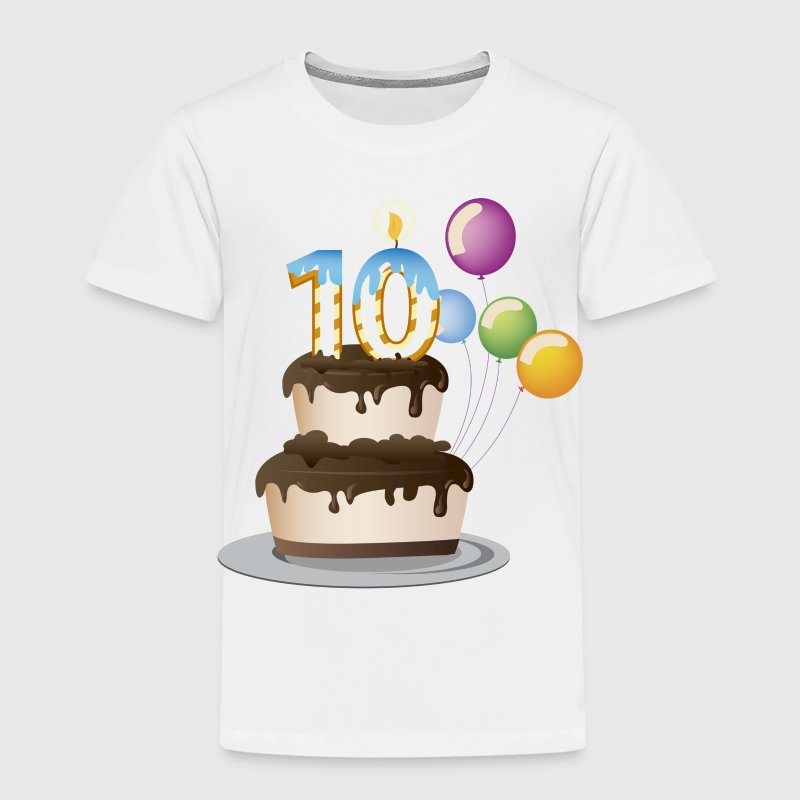 Birthday Cake 10 Today - Kids' Premium T-Shirt