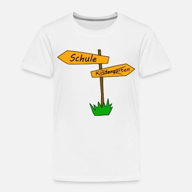 schule kindergarten wegweiser kinder t shirt spreadshirt. Black Bedroom Furniture Sets. Home Design Ideas