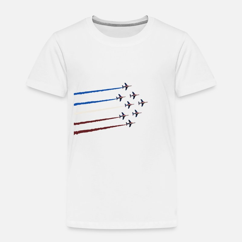 Avion T-shirts - patrouille de france - T-shirt premium Enfant blanc