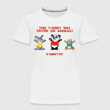 This tshirt was tested on animals - Kids' Premium T-Shirt