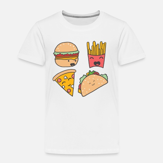 Food T-Shirts - fast food friends - Kids' Premium T-Shirt white