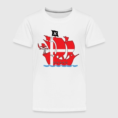 Pirateship danmark flag - Kinder Premium T-Shirt