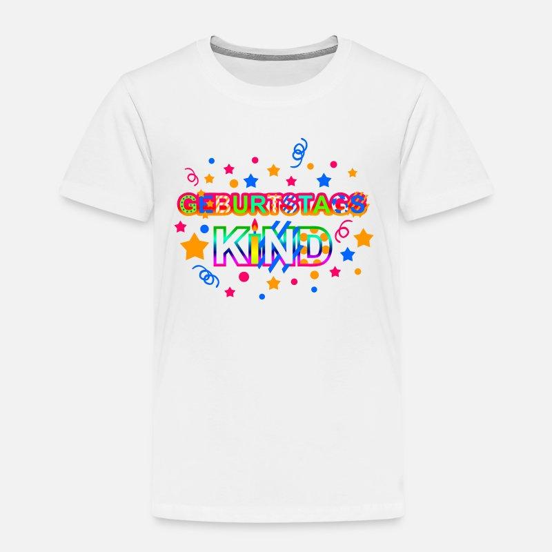 geburtstagskind kindergeburtstag lila f r m dchen kinder premium t shirt spreadshirt. Black Bedroom Furniture Sets. Home Design Ideas