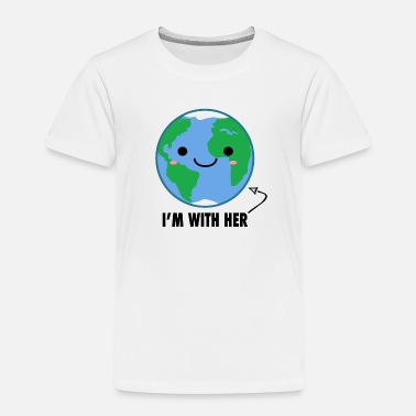 Earth-day I'm With Her - Planet Earth Day - Kids' Premium T-Shirt