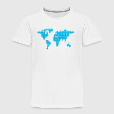 world map blue - Kids' Premium T-Shirt