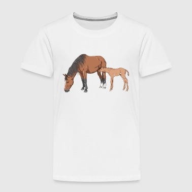 Mare and Foal - Kids' Premium T-Shirt