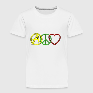 ANARCHY PEACE & LOVE - Kinder Premium T-Shirt