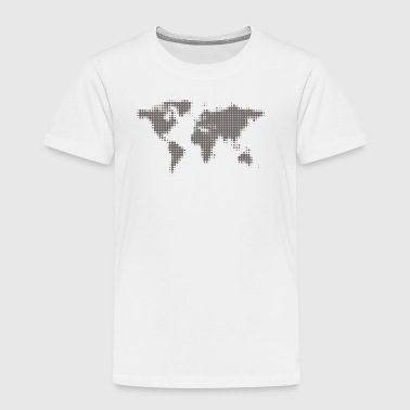 world map grey - Kids' Premium T-Shirt