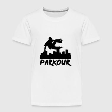 Free running in the city, parkour - Kinder Premium T-Shirt