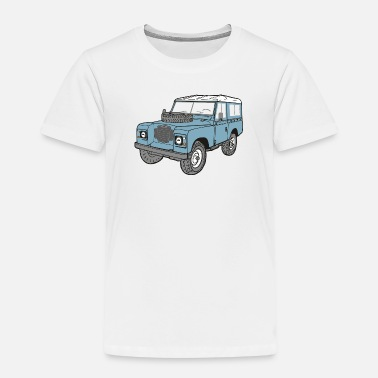 Land Landy Landie 4x4 Off Road Series 3 - Kinder Premium T-Shirt