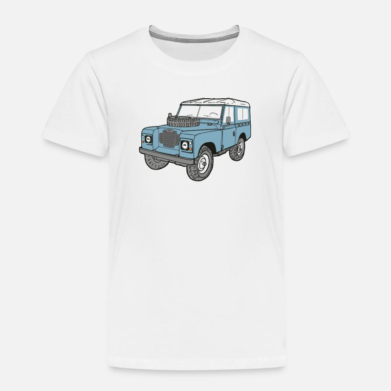 Defender T-Shirts - Land Rover Landie 4x4 Off Road Series 3 88 - Kids' Premium T-Shirt white