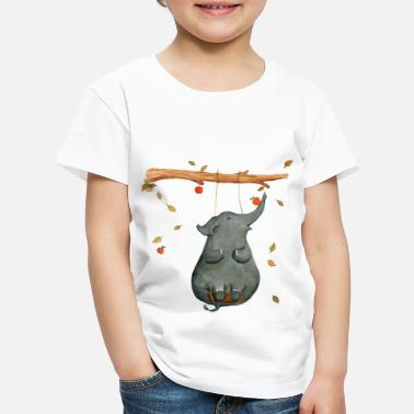 Collections Elefant auf der Schaukel - Kinder Premium T-Shirt