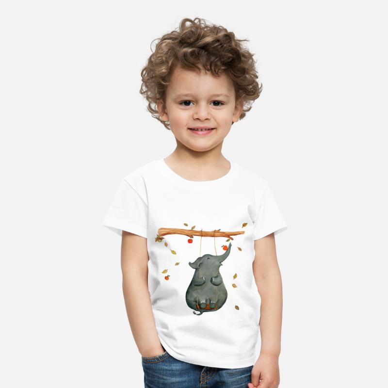 First Day Of School T-Shirts - elephant - Kids' Premium T-Shirt white