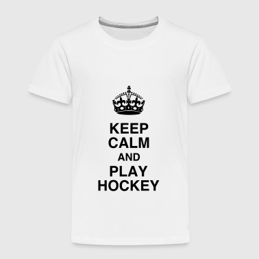 Hockey - Cross - Eishockey - Skater - Ice Hockey - Kinderen Premium T-shirt