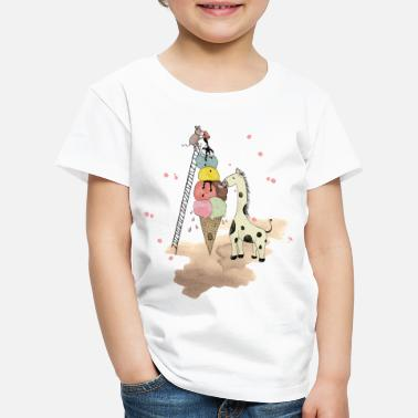 Wildlife Icecream - Premium-T-shirt barn