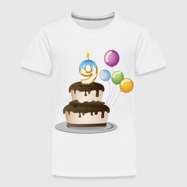 Birthday Cake 9 Today - Kids' Premium T-Shirt