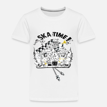 Ska Ska Time Cuckoo Clock Buttons - Kids' Premium T-Shirt
