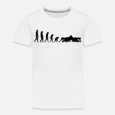 Evolution Of Rugby Evolution Rugby - Scrum - Kids' Premium T-Shirt