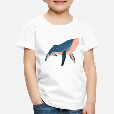 Whale Whale illustration - Premium T-shirt barn