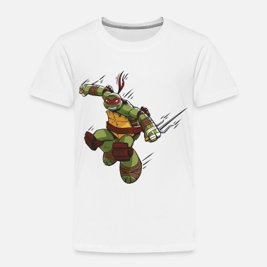 TMNT Turtles Raphael Ready For Action - Premium T-shirt barn