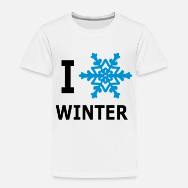 I Love Winter Snowflake - Kids' Premium T-Shirt