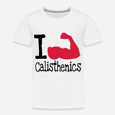 I love calisthenics_red - Kids' Premium T-Shirt