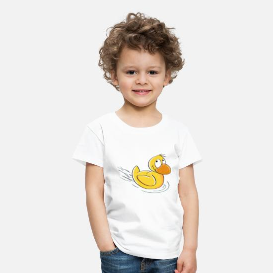 Barn T-shirts - Sweet Swimming Duck - Comic - Premium T-shirt barn vit