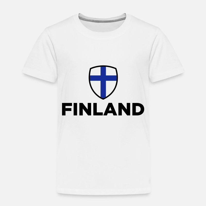 Suomi T-paidat - Kansallinen lippu Suomi - Lasten premium t-paita valkoinen 010b4fca06
