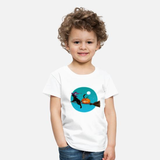 Halloween T-Shirts - Halloween Witch Cat - Kids' Premium T-Shirt white