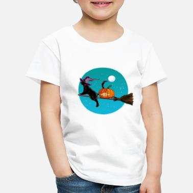 Halloween Halloween Witch Cat - Kinder Premium T-Shirt