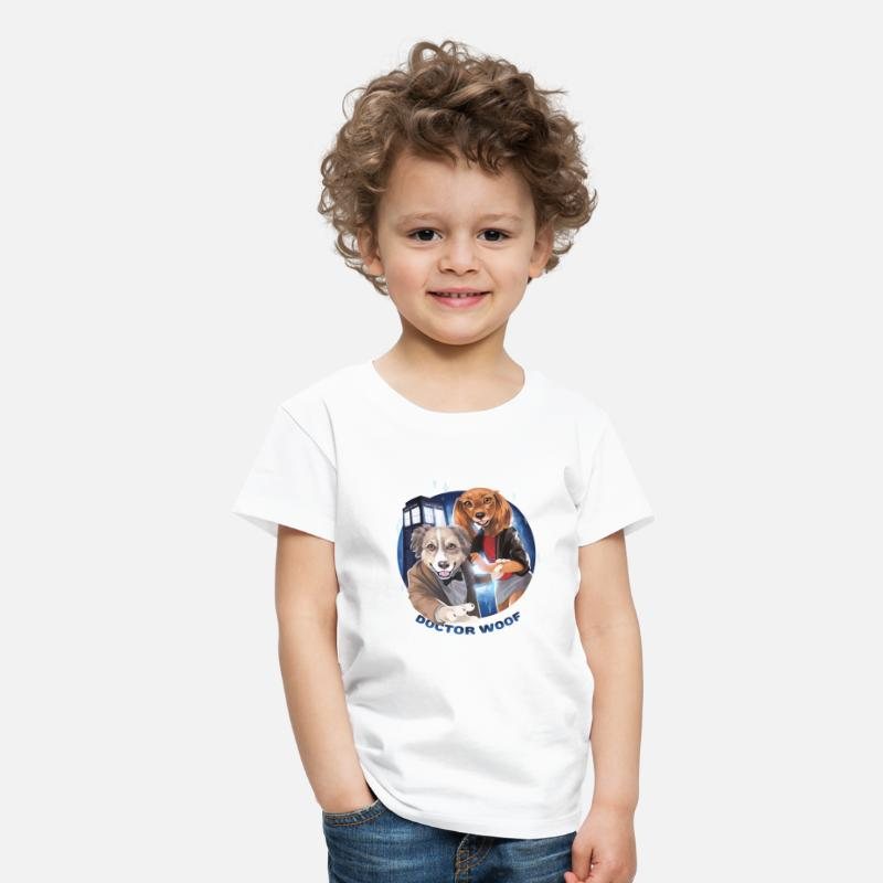 Spreadshirtlikes T-Shirts - doc woof small png - Kids' Premium T-Shirt white