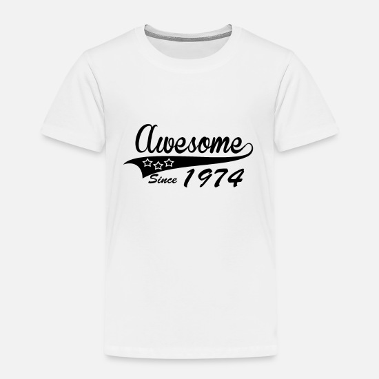 Gift T-Shirts - Awesome Geburtstag Bday since 1974 - Kinder Premium T-Shirt Weiß