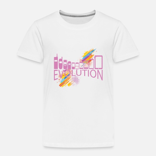 Evolution T-Shirts - Evolution of gadgets - Kids' Premium T-Shirt white