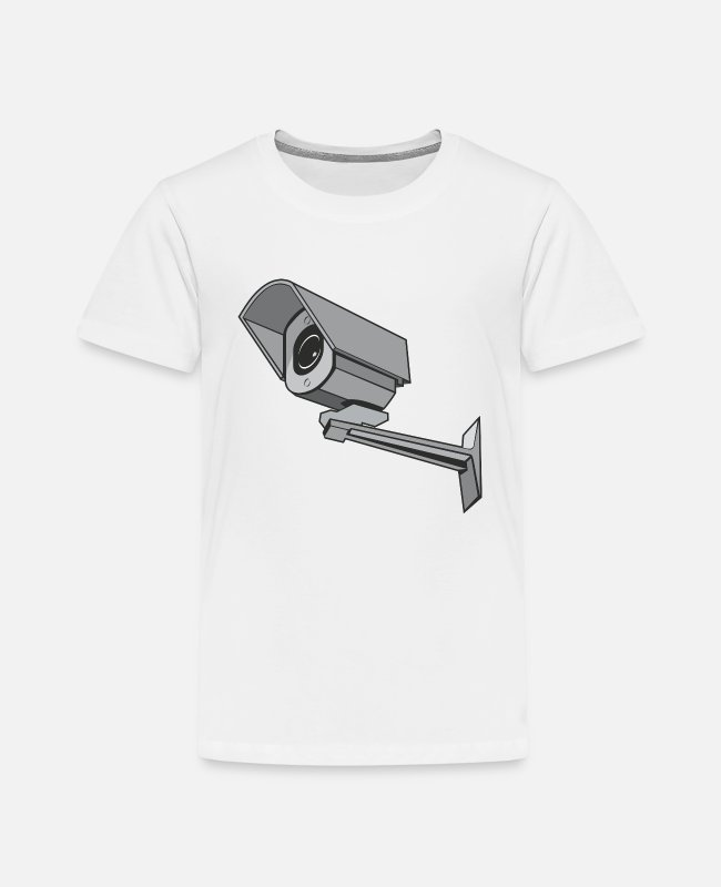 Surveillance State T-Shirts - Security Camera - Kids' Premium T-Shirt white