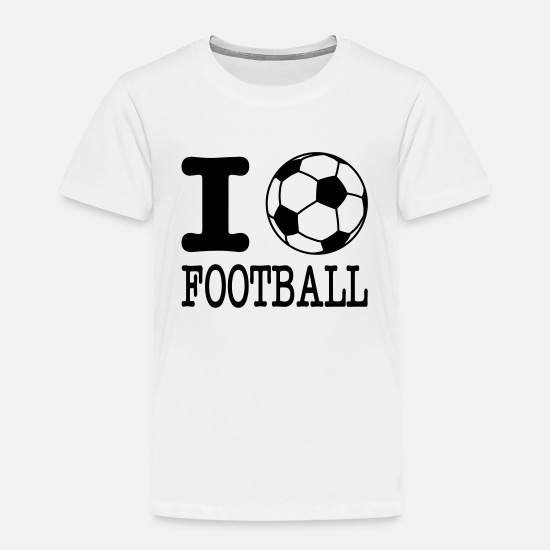 Football T-Shirts - i love football with ball - Kids' Premium T-Shirt white