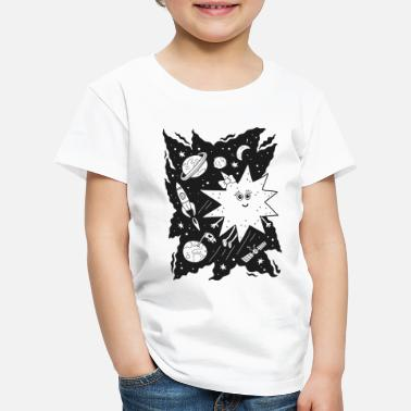Black And White Collection Stella star for coloring - Premium T-skjorte barn