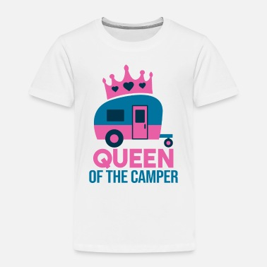 Camping QUEEN OF THE CAMPER - Kinder Premium T-Shirt